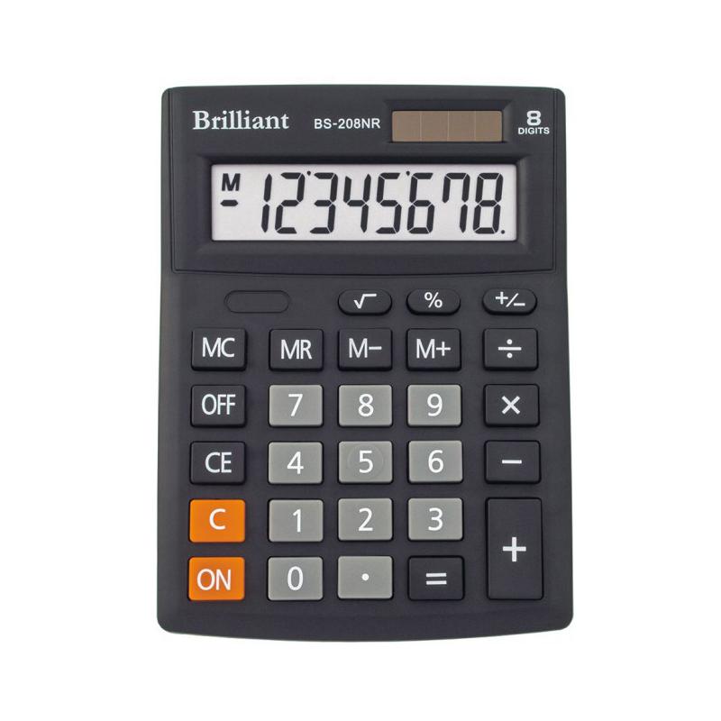 Калькулятор настільний Brilliant BS-208NR, 8-ми розрядний